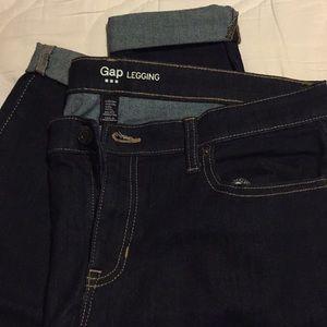 Gap legging dark blue jeans